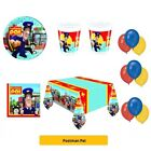 POSTMAN PAT Birthday Party Range - Tableware Balloons & Decorations PROCOS
