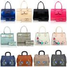 LeahWard Women's Large Bag Two In One Bow Patent Handbag With Matching Purse