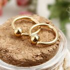 New Fashion Stainless Steel Fake Piercing Bead Nose Ring Hoop Earrings S0BZ