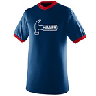 Hammer Men's Swagga Performance Jersey Bowling Shirt Dri-Fit Navy Red