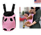 Small Pet Puppy Dog Cat Carrier Backpack Travel Front Head Legs Out Mesh Pink