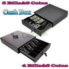 Cash Register Drawer Box 4 5 Bill 5 Coin Tray Compatible Works POS Printers RJ11