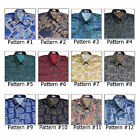 Shirt Mens Thai Silk Patterned/Short-Long Sleeve/Casual Hawaiian Vintage Paisley