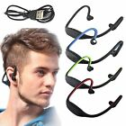Bluetooth Wireless w/ Mic Gym Sport Stereo Hook Headset Earphone For Android IOS