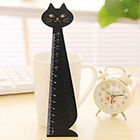 Cute Cat Face Wooden Measuring Ruler Straightedge Student Pupil Stationery 15CM