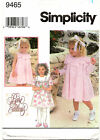 Simplicity 9461 Girls Special Occasion Dress Sewing Pattern Size 2 3 4