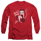 Betty Boop Lover Girl Mens Long Sleeve Shirt $23.95 USD