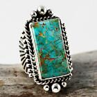 A+ GUY HOSKIE Natural Royston Turquoise Ring Sterling Silver Native American 8