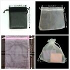 10 20 50 Large Drawstring Organza Jewellery Pouches Party Gift Bag Bags 22x32cm