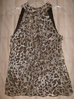 B.Wear NWT animal print top w ruffles, lined, small junior girl