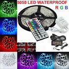 5050 5M 10M SMD 300 Leds LED Strip Tape Roll Cool White RGB DC 12V Adapter Kit