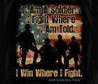 I Win Where I Fight Gernal Patton Soldier Army Adult T-shirt