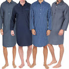 Mens plain EASY CARE  LIGHTWEIGHT SUMMER NIGHTSHIRT SIZES  M L XL XXL 3XL