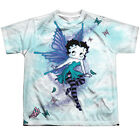 Betty Boop Sparkle Fairy Big Boys Youth Sublimated Polyester Shirt $32.11 CAD