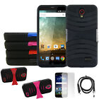 Phone Case For ZTE Zmax Champ 4G LTE Heavy Duty Cover USB Charger Screen Guard