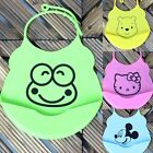 soft food grade silicone  baby bucket-bib waterproof Dimensional reusable bibs
