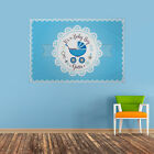 PERSONALISED BABY SHOWER BANNER ITS A BABY BOY BLUE PRAM ANY NAME CELEBRATION
