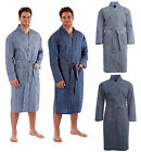 Mens Kimono Wrap Woven Dressing Gown Summer Robe House Coat Printed Gents Style