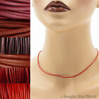 1.5 mm Red Leather Cord Necklace or Choker Custom Length ur colors Handmade USA
