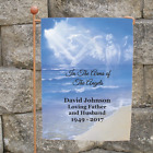 Personalized Memorial Garden Flag Arms of The Angels Cemetery Flag Sympathy Gift