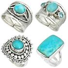 Collector`s edition larimar 925 silver ring jewelry by jewelexi 5065A