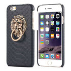 Sexy Snake Skin Phone Case 3D Lion Head Stand Cover Shell for iphone 5 6 7 PlusJ