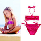 Adorable Baby Girls Bikini Children 2PCS Halter Swimwear Bathing Suit Swimsuit