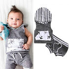 Adorable Leopard Newborn Kids Baby Boys Hooded Tops+Pants Shorts 2pcs Outfits