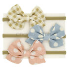 Newborn Baby Girls kids Grosgrin Ribbon Hair Bows Ponytail Holderes Hair Ties