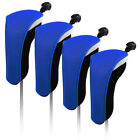 USA 4Pcs set Light Neoprene Black Blue Hybrid UT Golf Club Head Cover Headcovers