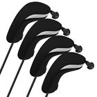 Внешний вид - USA 4Pcs/set Light Neoprene Black Blue Hybrid UT Golf Club Head Cover Headcovers