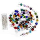 100 Retro Chandelier Crystal Light Droplets Octagon Beads Chain Beads 14mm Decor