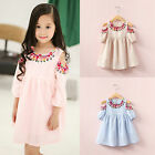 Kids Baby Girls Fashion Princess Off Shoulder Floral Dress Party Summer Sundress