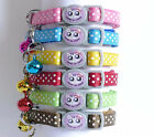Polka Dot Cat Kitten Collar Break Free Snap Safety Release Spotted Bell