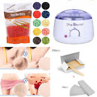 Depilatory Hair Removal Kit Wax Heater + Hard Wax Beans + Wood Stick + 100 Paper