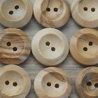 "WOODEN BUTTONS 2-HOLE NATURAL -BULK BUY- 16MM (5/8"") - 100 or 50 PACK*** size 26"