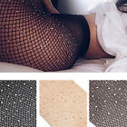 Women Crystal Rhinestone Fishnet Net Mesh Socks Stockings Tights Pantyhose JR
