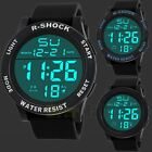 Men Led Digital Waterproof Wristwatch Military Army Sports Watch Stainless Steel
