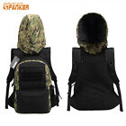 Outdoor MOLLE Hoodie Backpack with Removable Hood Hat Pack Rucksack Bag Camo
