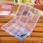 Chic Portable Plastic 6-Compartment Storage Container Small Box Transparent