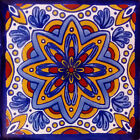 #C124 MEXICAN CERAMIC HANDMADE TALAVERA TILE SETS