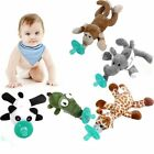 Cute Funny Newborn Baby Silicone Animal Pacifier with Plush Toy Soother BKB