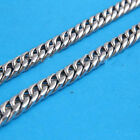 Stainless Steel Double Diamond Smooth Cut Curb Shape Chain 6.5mm Wide