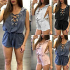 Womens Holiday Playsuit Ladies Summer Jumpsuit Romper Bodycon Clubwear TrousersJ