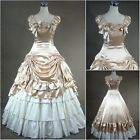 Champagne Gold Victorian Ruffles Gown Ball Lolita Dress Outfit Tailor Made