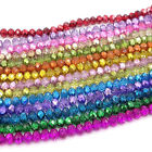 faceted glass beads - Wholesale Crystal Glass Rondelle Faceted Loose Spacer Beads DIY 4mm 6mm 8mm 10mm