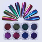 Magic Chameleon Mirror Powder Nail Art Chrome Pigment Glitters Black Base Need