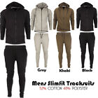 Mens New Plain Sports Fitness Gym Full Top Bottom Slim Fit Joggers Tracksuits UK