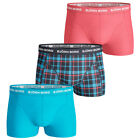 37% OFF RRP Bjorn Borg 2017 Mens BB Check 3 Pack Stretch Fitted Boxer Briefs