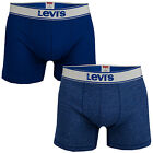 Men's Levis Vintage Heather 2 Pack Boxer Shorts In Blue From Get The Label